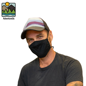 AdventureUs Midwest Made Premium Organic Face Masks are designed for all-day comfort and sized for the whole family.