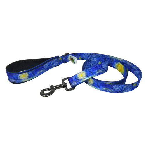 AdventureUs Dog Leash Starry Night- Just like the classic painting by Vincent Van Gogh, this leash is bound to inspire self-expression.  Gorgeous deep colors remind you that there's always a new way to look at the world around you.