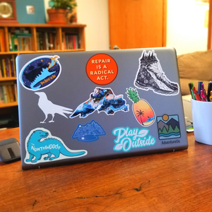 Express yourself with high quality stickers that show what you love!