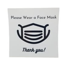 Load image into Gallery viewer, Please Wear a Face Mask Window Cling