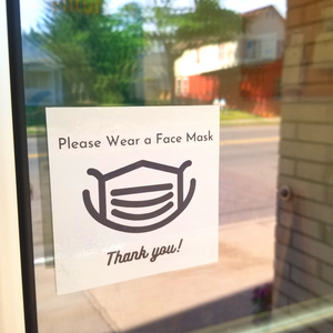 Please Wear a Face Mask Window Cling