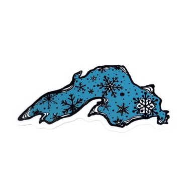 Winter Lake Superior Sticker