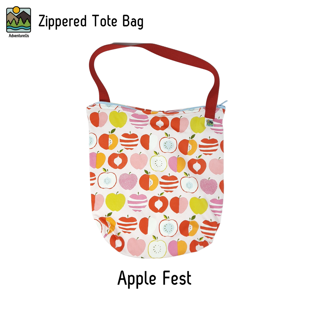 Zippered Tote Bag- Apple Fest