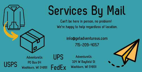 We offer sewing services by mail too. Please don't hesitate to reach out.