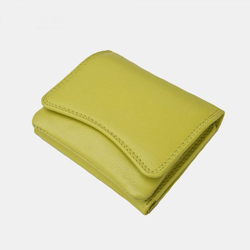 Prime Hide Compact Curvy Leather Purse