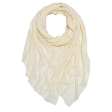 Load image into Gallery viewer, Cotton & Wool Mix Sheer Plain Scarf - choice of colours - Pretty Swish Accessories Ripley Derbyshire