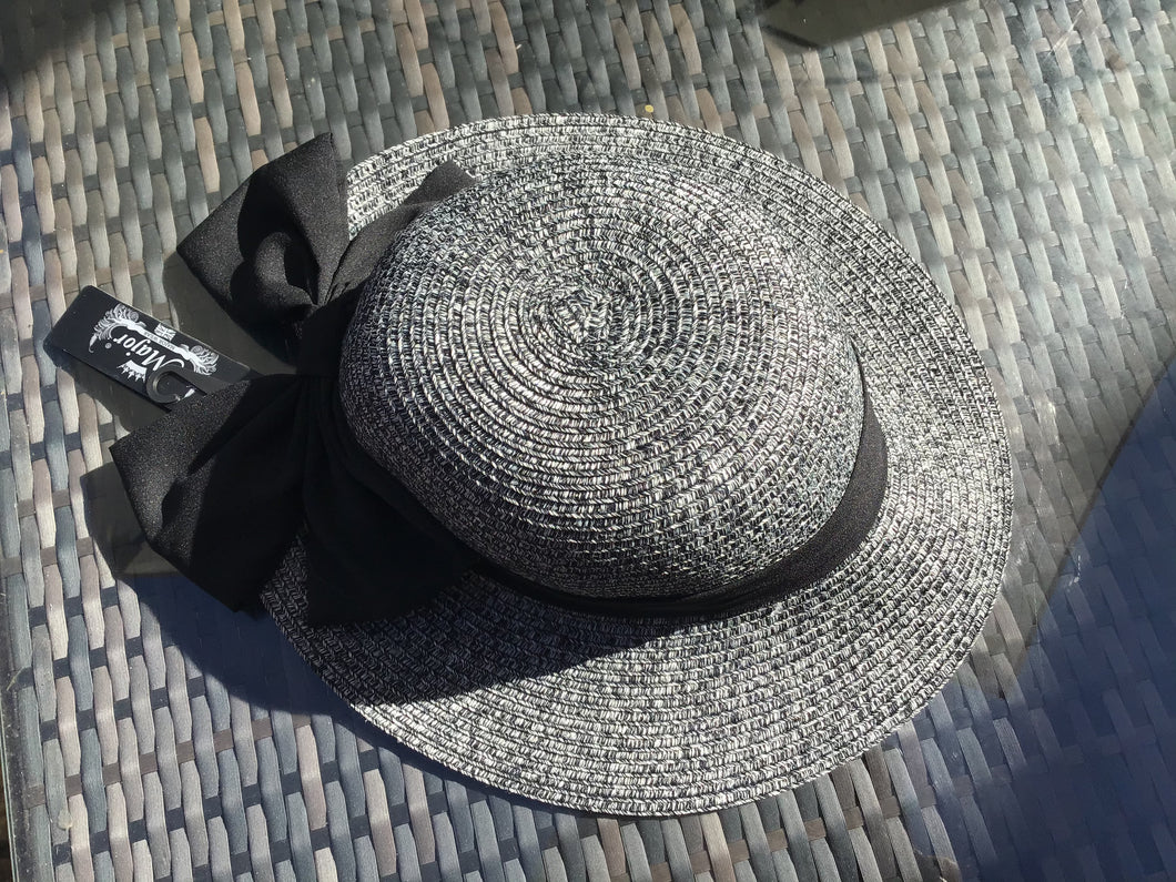 New! Black Wide Brim Sun Hat - Pretty Swish Accessories Ripley Derbyshire
