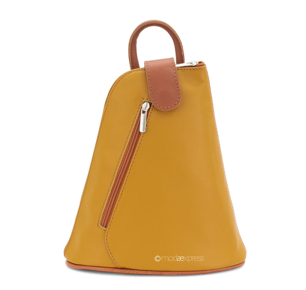 Scarlet Italian Leather Mini Backpack