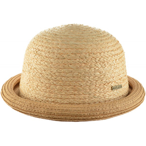 Beige Summer Bowler Hat - Pretty Swish Accessories Ripley Derbyshire