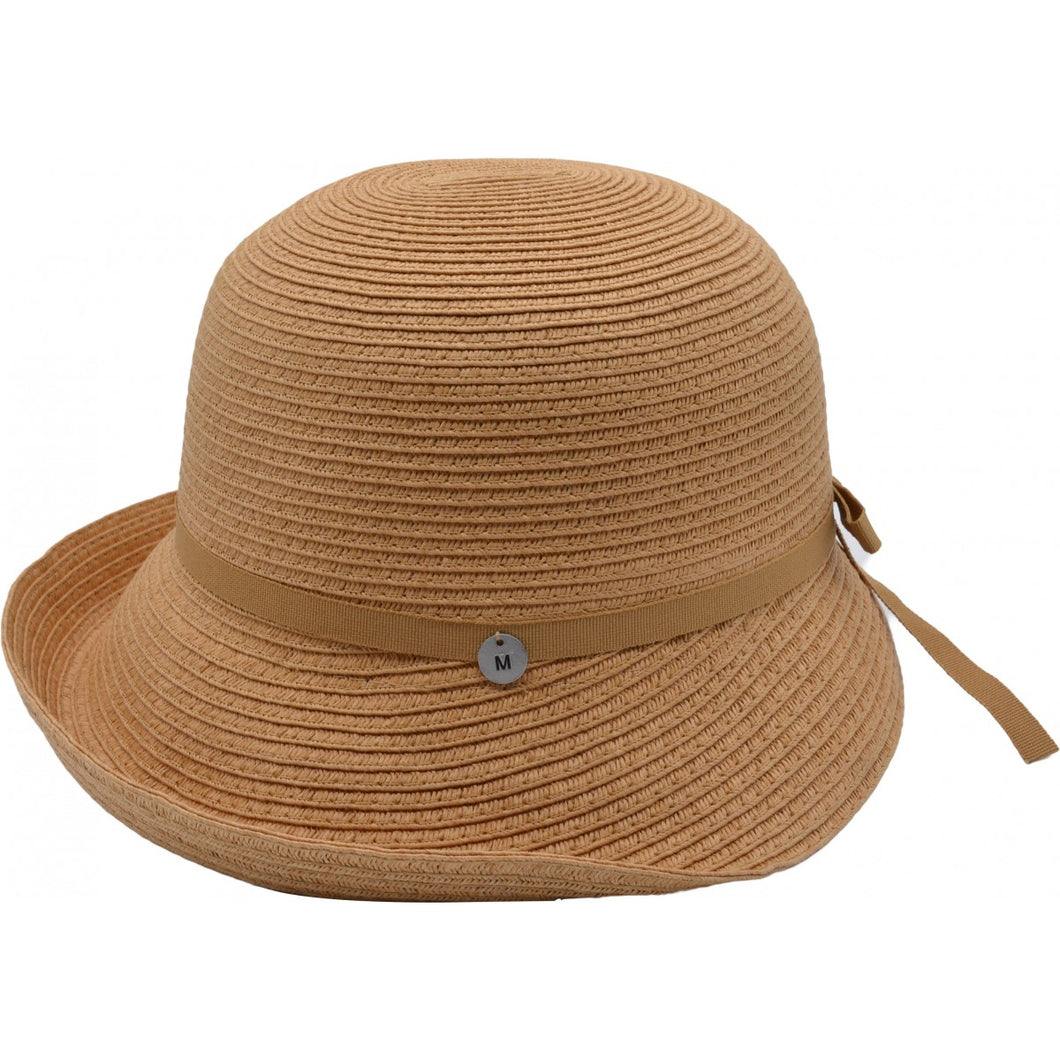 Beige Cloche Sun Hat - Pretty Swish Accessories Ripley Derbyshire