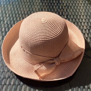 New! Nude Pink Vintage-Style Sun Hat - Pretty Swish Accessories Ripley Derbyshire