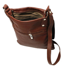 Load image into Gallery viewer, Sofia Italian Leather Messenger Bag - Pretty Swish Accessories Ripley Derbyshire
