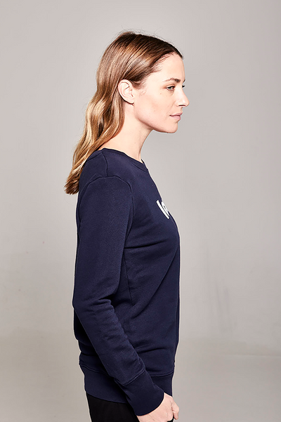 Organic Crew Navy Love Sweater