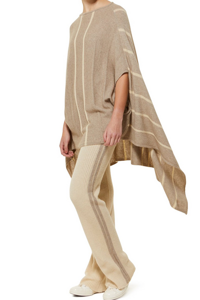 ELKA Striped Poncho