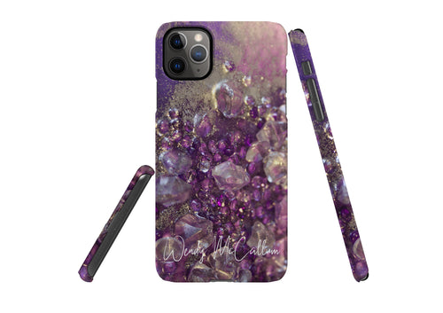 Amethyst Dreams snap phone case by Wendy McCallum