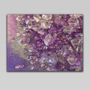 Amethyst wall canvas - Opulence