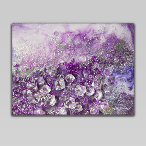 Amethyst Dreams Canvas Wall Art - Elegance