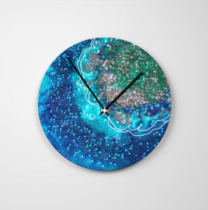 Archipelago Round Glass Wall Clock - Opulence