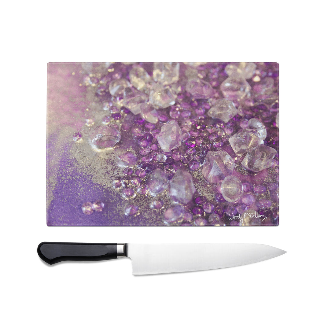 Amethyst Dreams Glass Chopping Board - Opulence