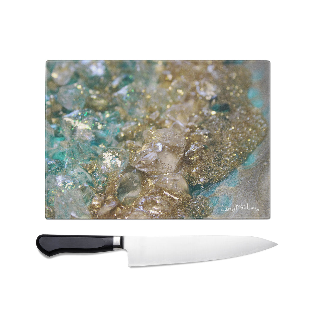 Dioptase Glass Chopping Board - Opulence