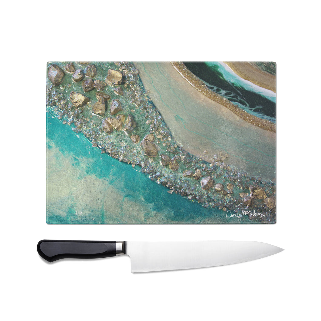 Dioptase Glass Chopping Board - Grace