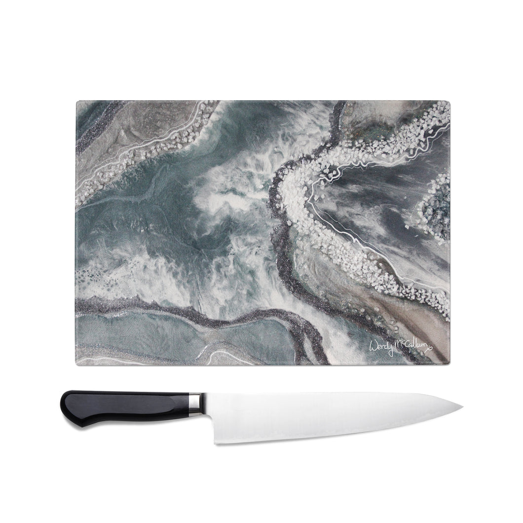 Vista Glass Chopping Board - Opulence