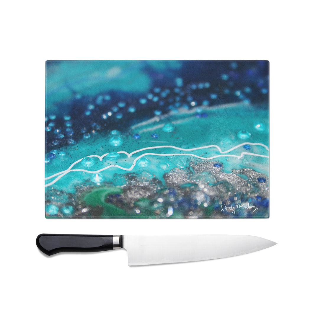 Archipelago Glass Chopping Board - Grace