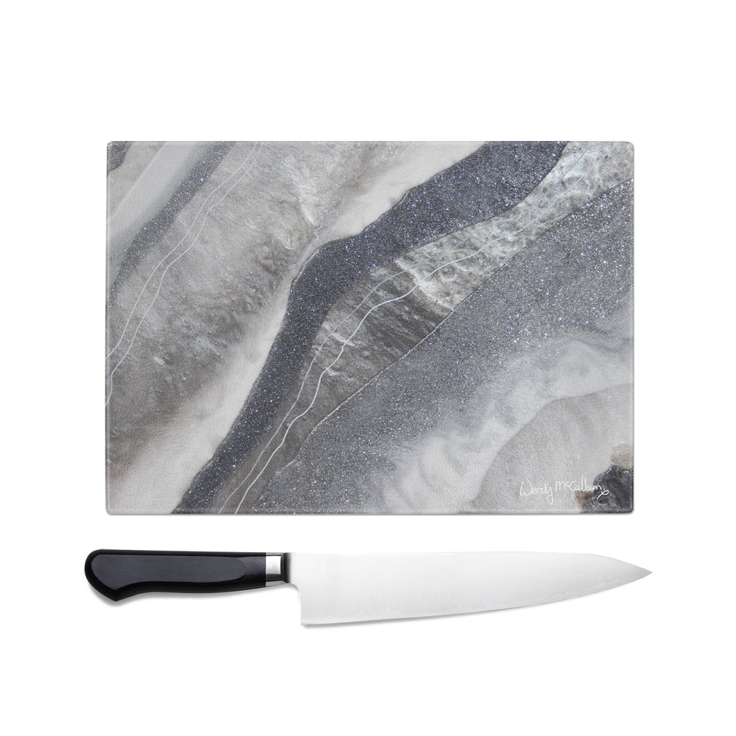 Grey Moonstone Glass Chopping Board - Grace