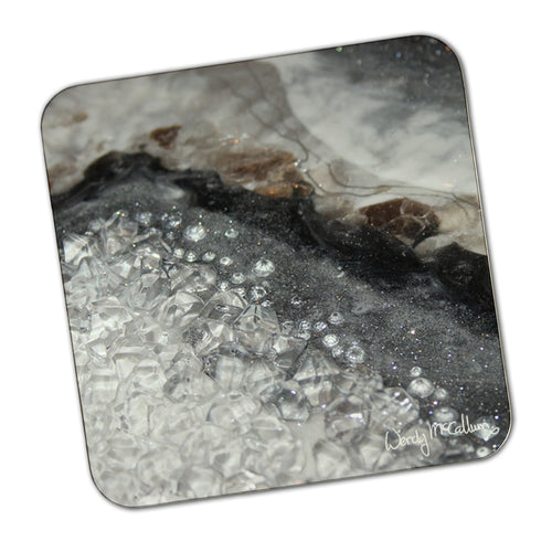 Grey Moonstone Coaster - Opulence