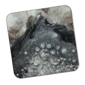 Grey Moonstone Coaster - Elegance