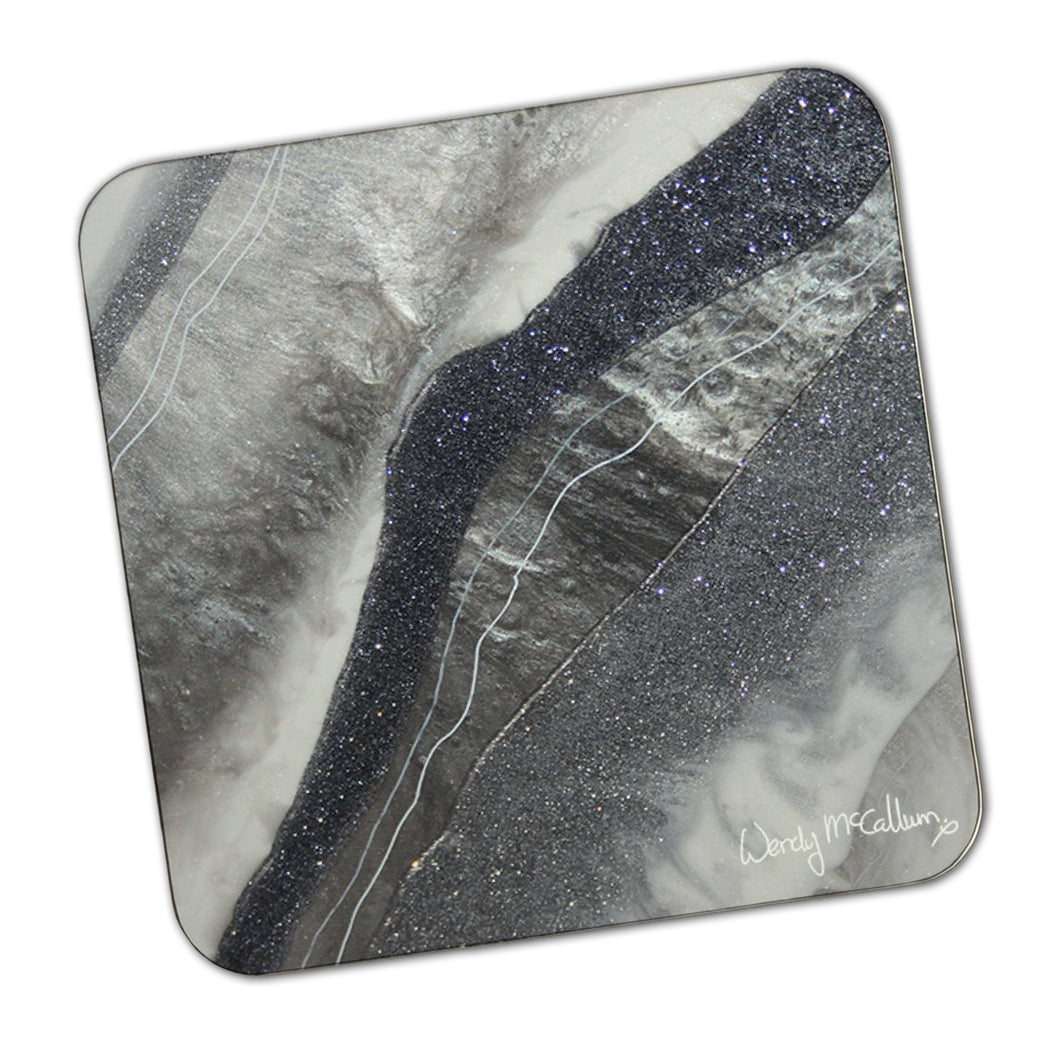 Grey Moonstone Coaster - Grace