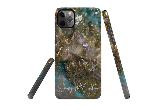 Dioptase snap phone case By Wendy McCallum Art