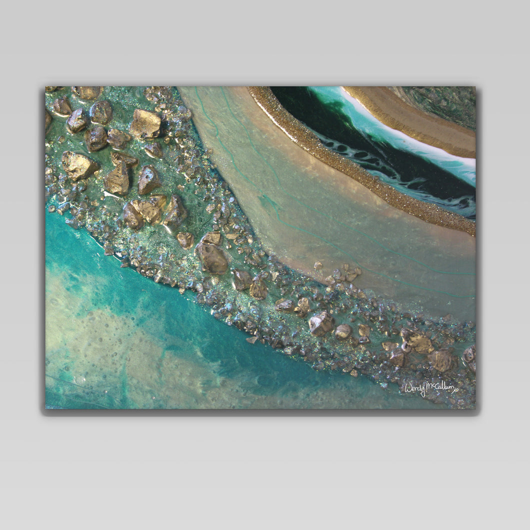 Dioptase - Grace canvas print