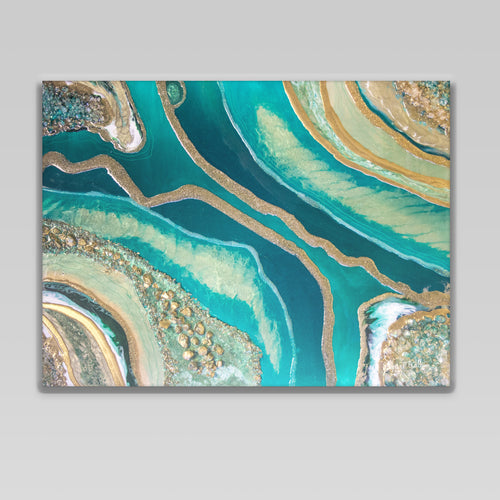 Dioptase Canvas Wall Art - Splendour