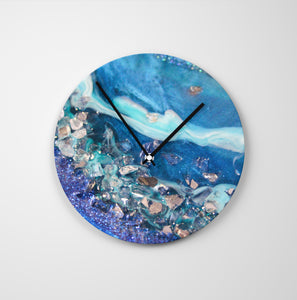 Elucidation Round Glass Wall Clock - Elegance