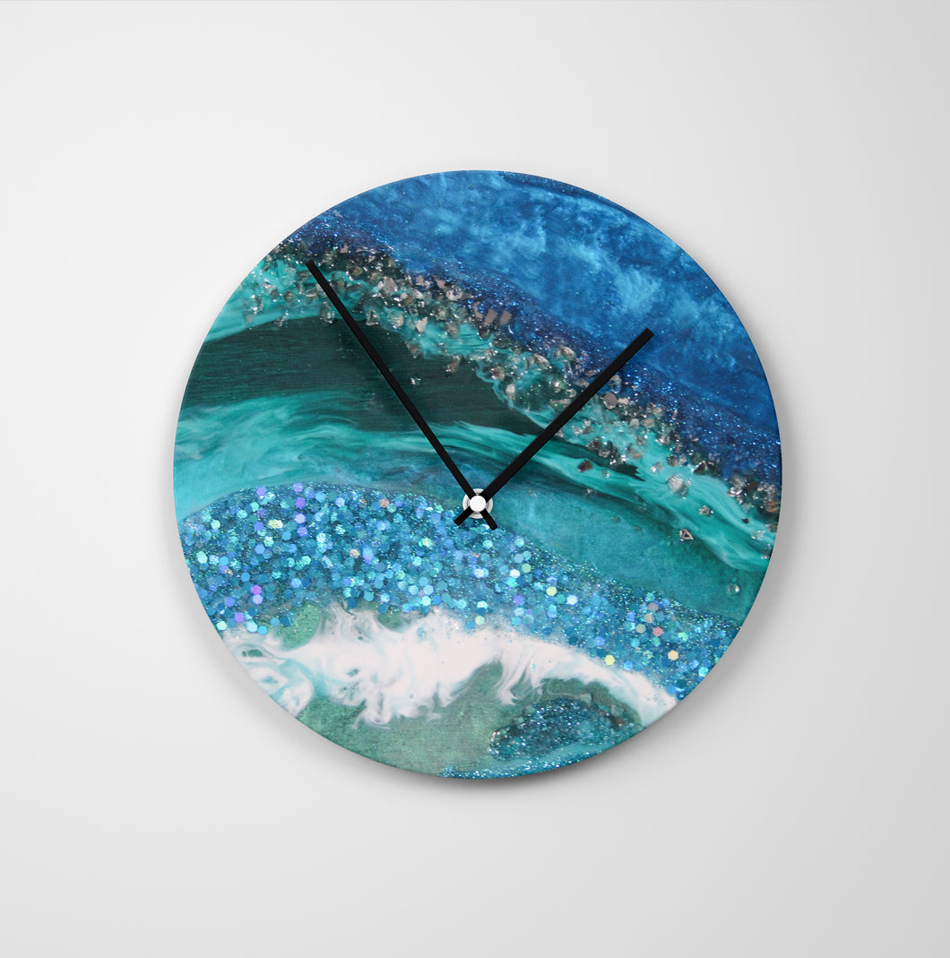 Elucidation Round Glass Wall Clock - Grace