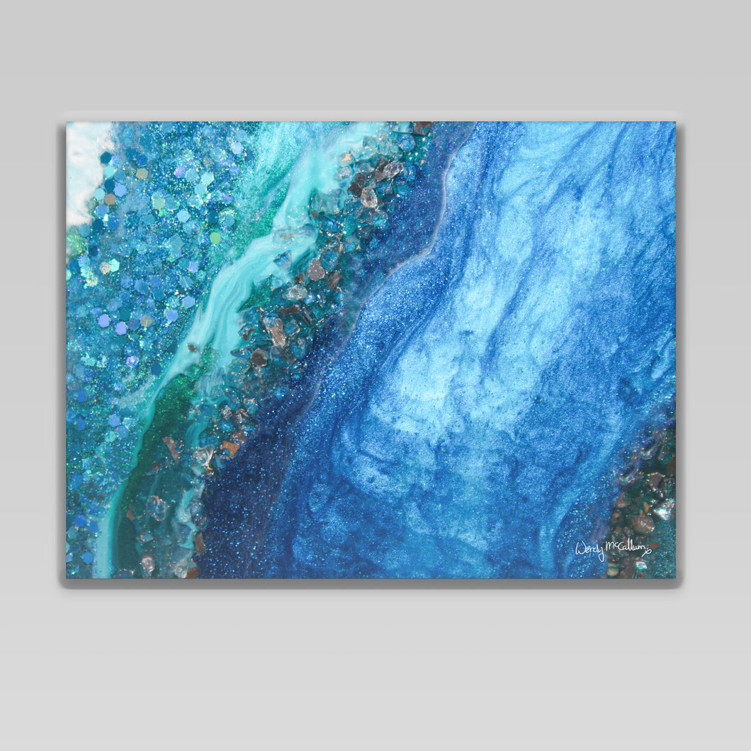 Elucidation - Opulence canvas wall art decor.