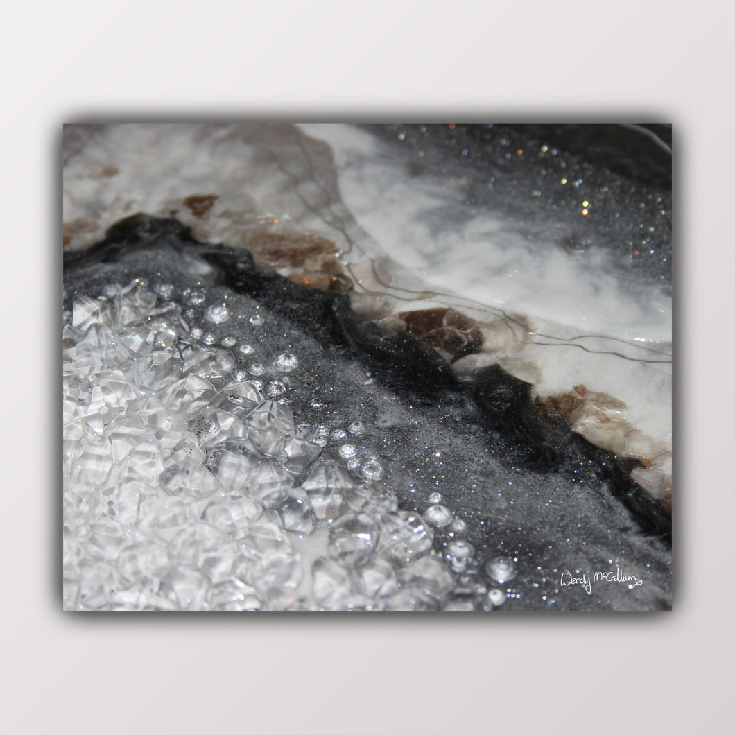 Grey Moonstone fine art print - Opulence
