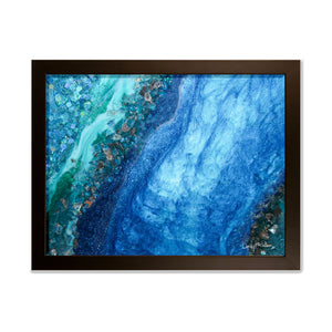 Elucidation framed print - Opulence
