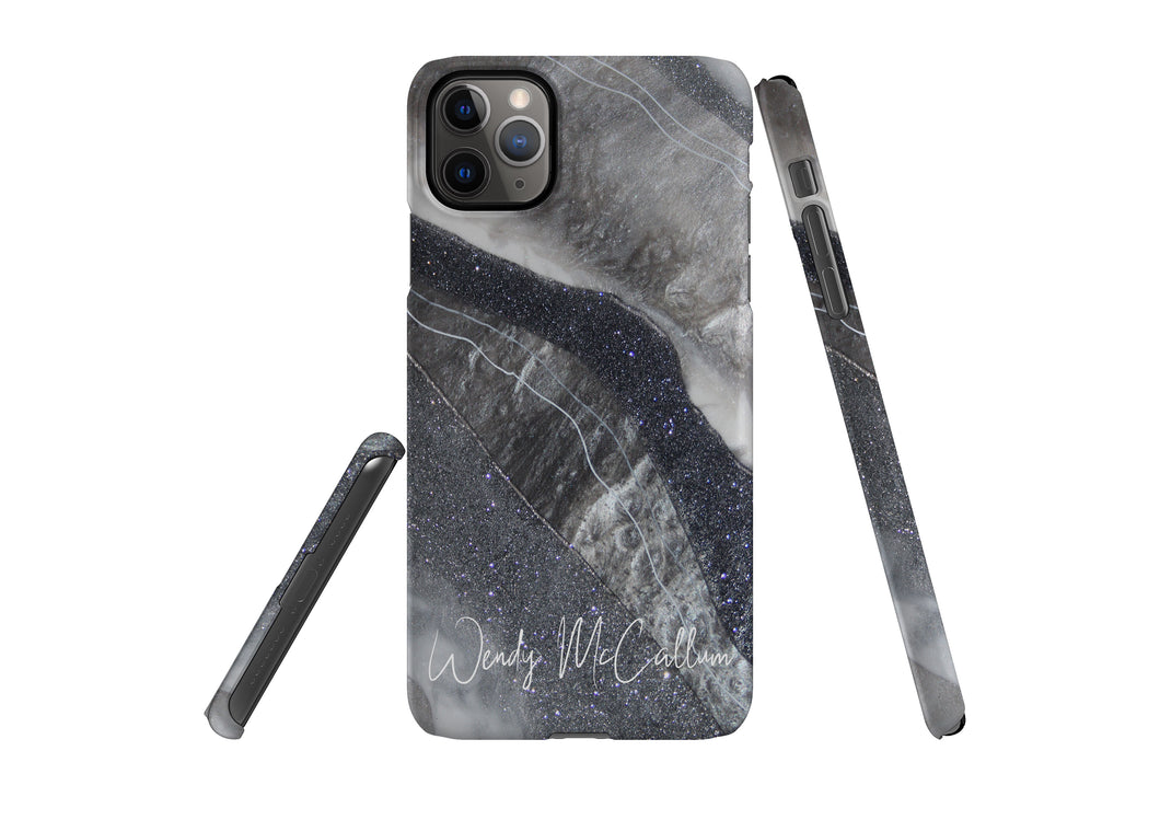 Grey Moonstone snap phone case by Wendy McCallum