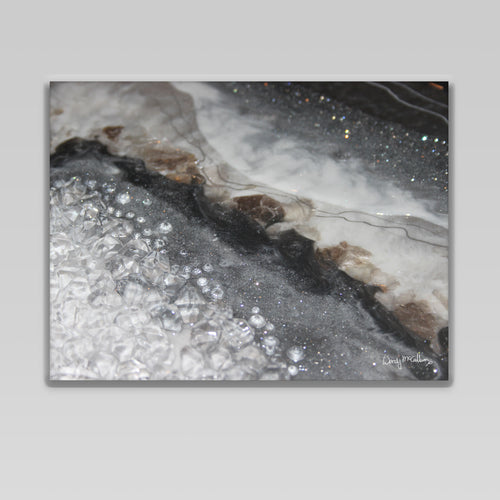 Grey Moonstone Canvas Wall Art - Opulence