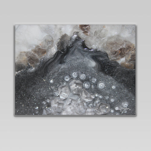 Grey Moonstone Canvas Wall Art - Elegance