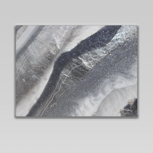 Grey Moonstone Canvas Wall Art - Grace