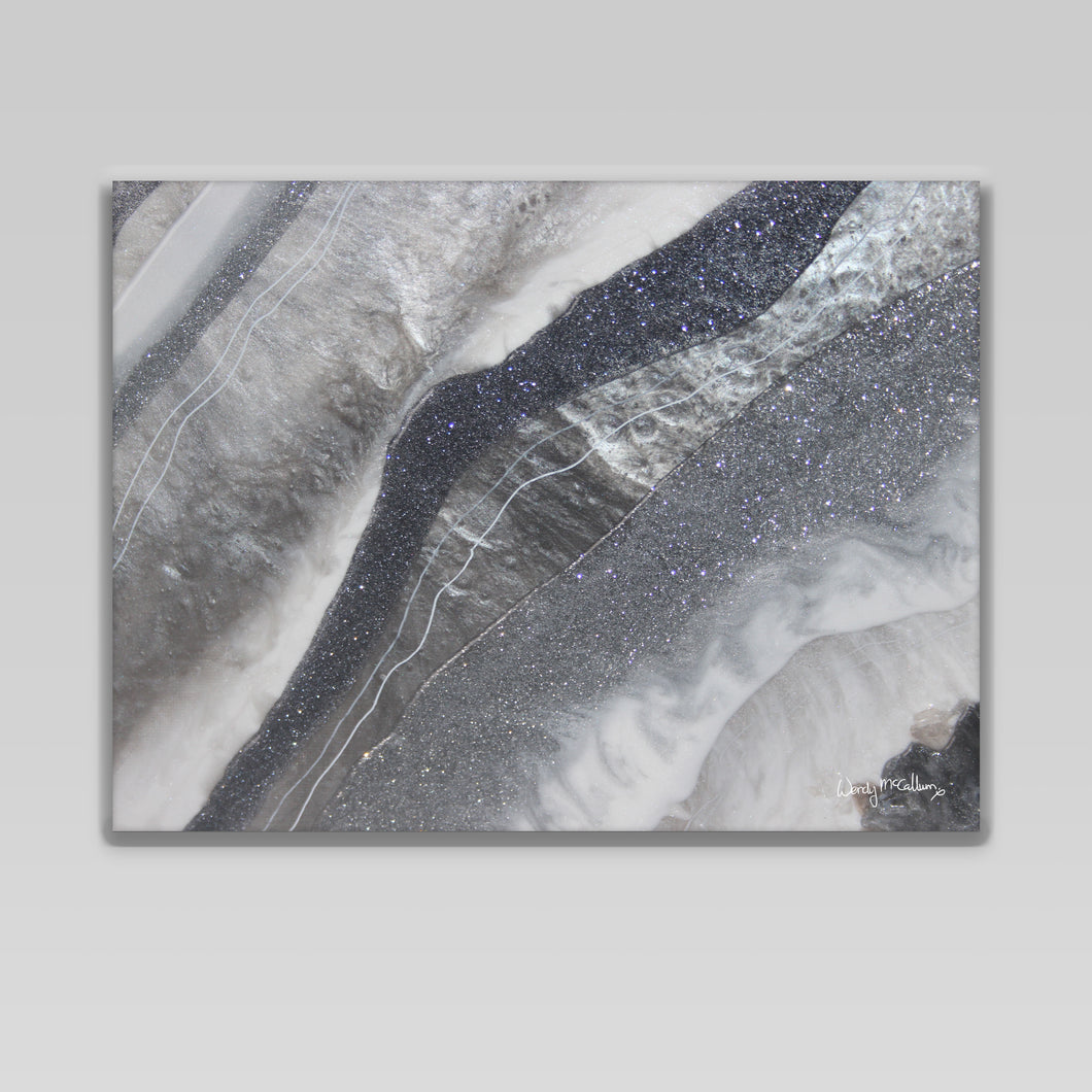 Grey Moonstone canvas print -Grace