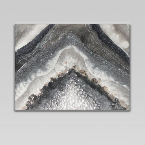 Grey Moonstone Canvas Wall Art - Splendour