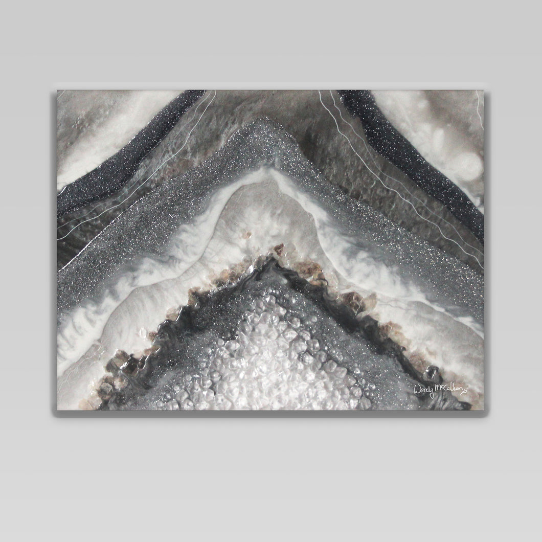 Grey Moonstone canvas print - Splendour
