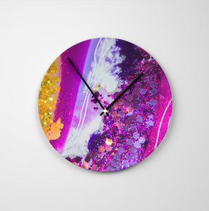 Inception Round Glass Wall Clock - Elegance