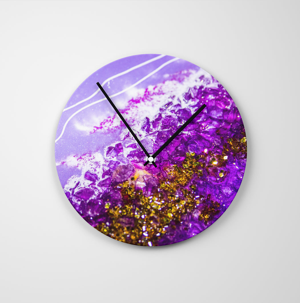 Inception Round Glass Wall Clock - Grace