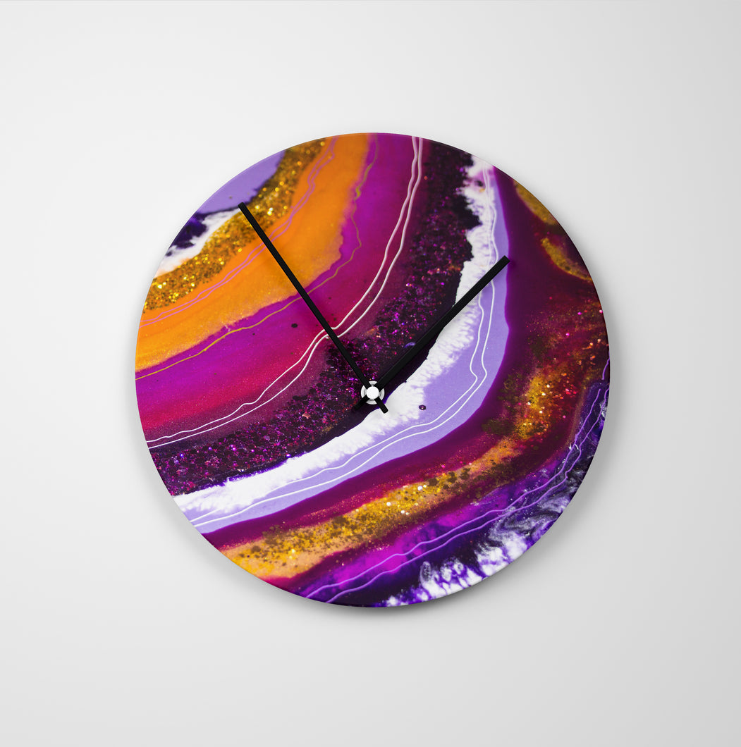 Inception Round Glass Wall Clock - Opulence