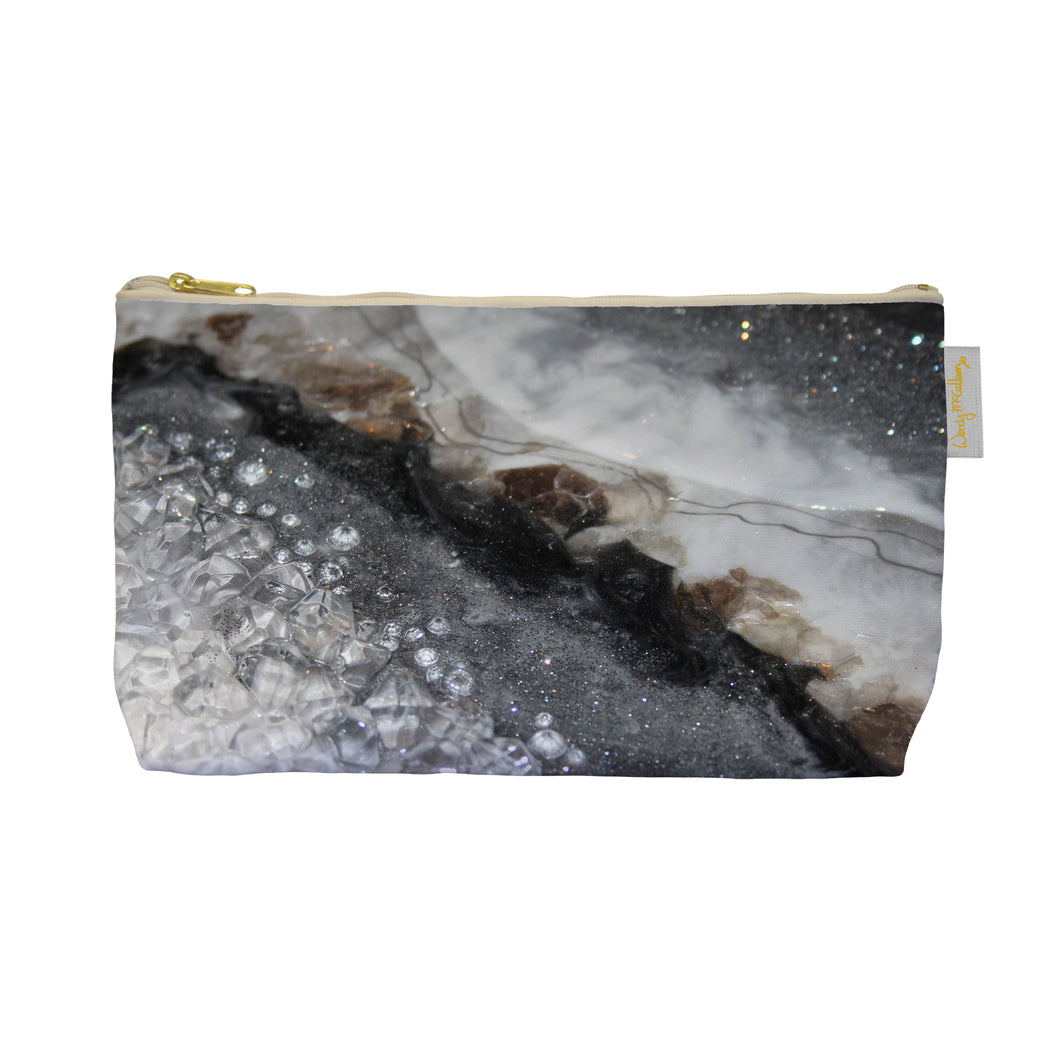 Grey Moonstone Make Up Bag - Opulence